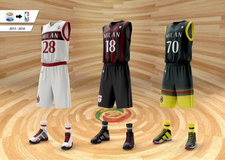 Maglie AC Milan basket adidas