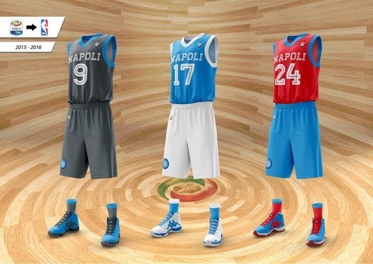Divise Napoli da basket NBA