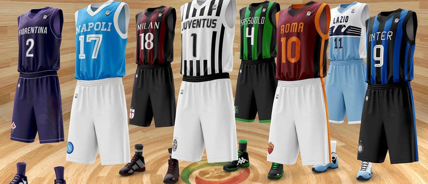 Le maglie della Serie A versione NBA