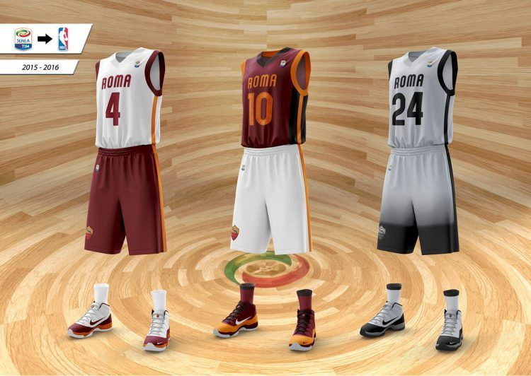 Maglie basket AS Roma