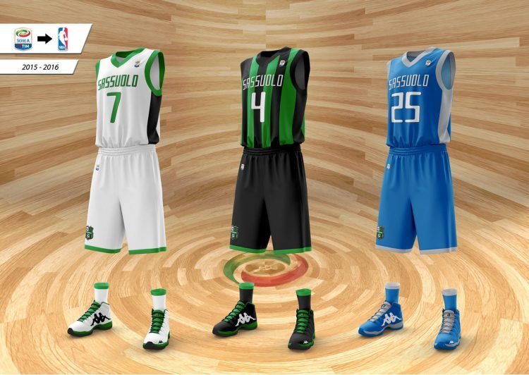 Sassuolo divise basket 2015-16