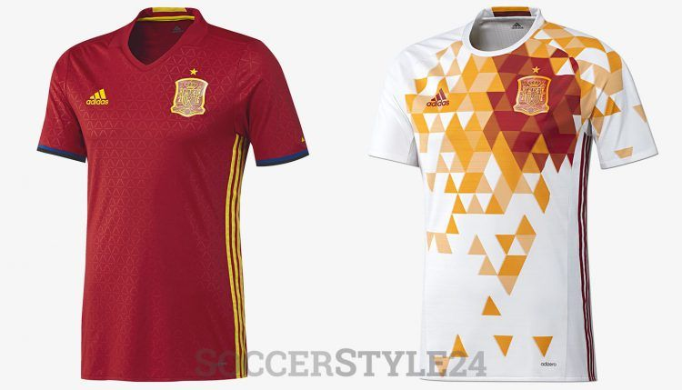 Maglie Spagna Europei 2016 adidas