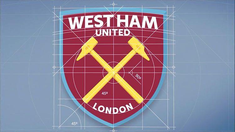 La costruzione del nuovo logo del West Ham United