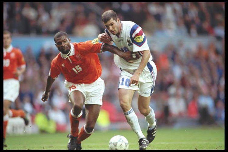 Zidane e Bogarde, Francia-Olanda 1996
