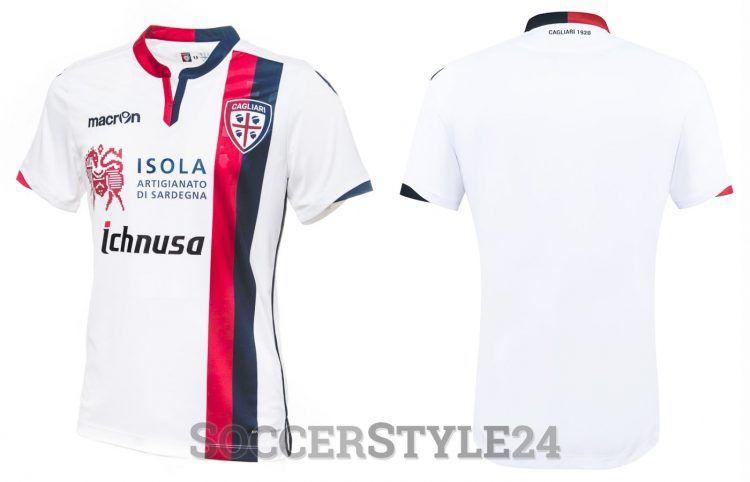 Seconda maglia Cagliari 2016-2017 Macron