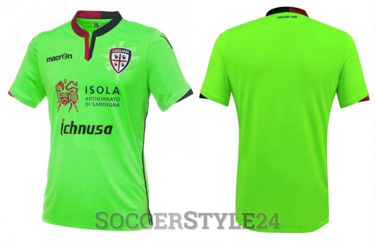 Terza maglia Cagliari Calcio 2016-17 verde