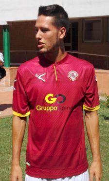 Gonnelli con la maglia amaranto del Livorno 2016-17