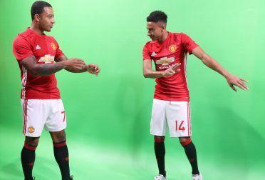 Memphis e Jesse Lingard, gif animate Manchester United
