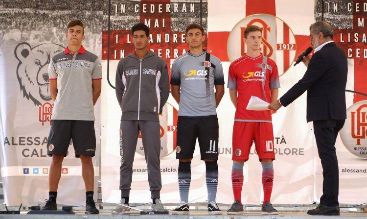 Le nuove maglie dell'Alessandria 2016-2017
