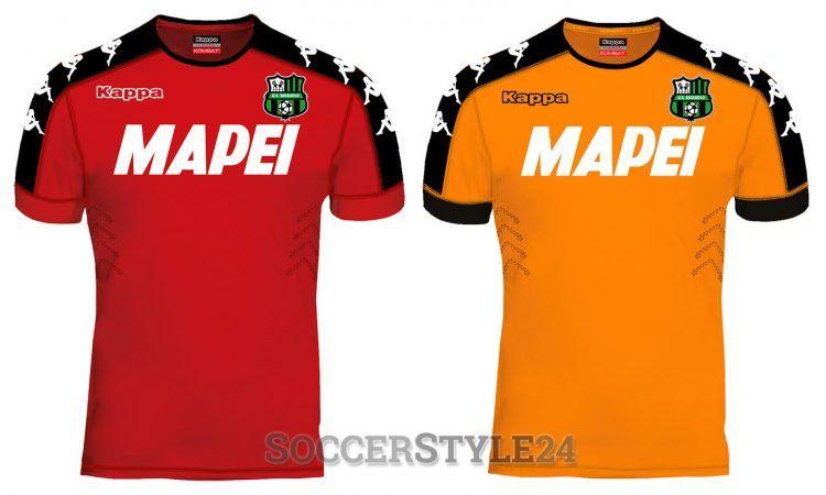 Maglie portiere Sassuolo 2016-17 rosso e arancione