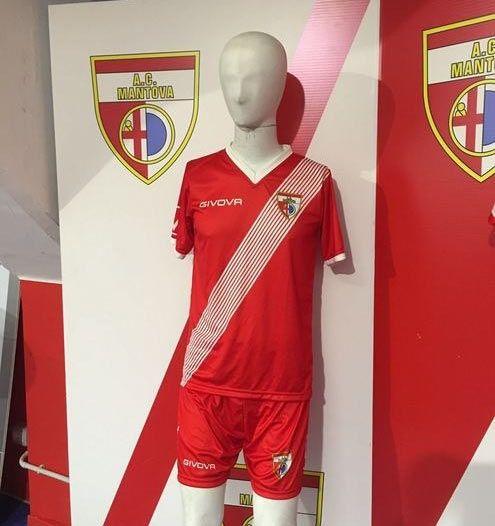 Seconda maglia Mantova 2016-2017 rossa