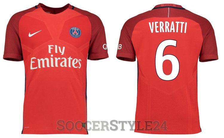 Seconda maglia Paris Saint-Germain 2016-2017 rossa
