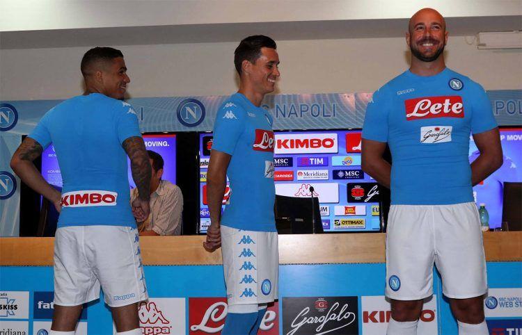 Reina Callejon e Allan con la maglia del Napoli 2016-17