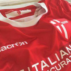 La seconda maglia del Padova Calcio 2016-17 rossa