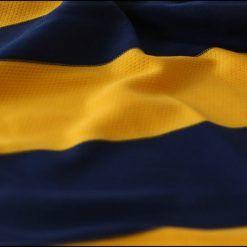 Dettaglio strisce orizzontali gialloblù Hellas Verona