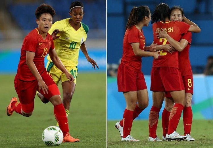 Maglie Cina femminile Rio 2016