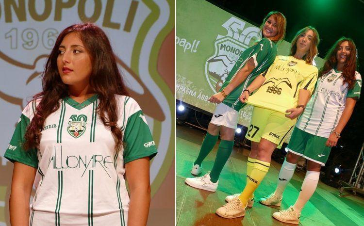 Seconda maglia Monopoli 2016-2017
