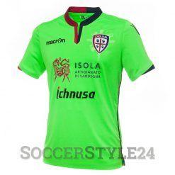 Cagliari terza maglia 2016-17 verde fluo