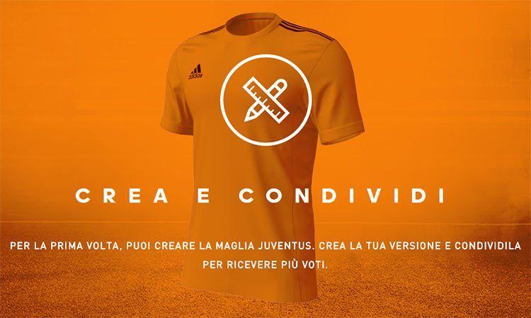 Crea maglia adidas Juventus o Milan