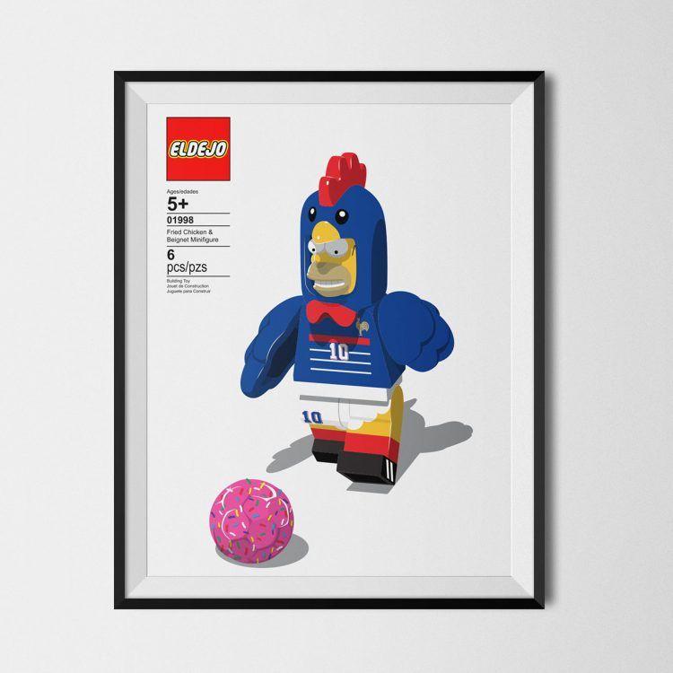 Homer Simpson Lego Francia 1998