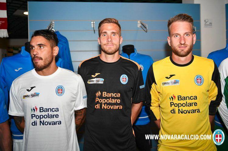 Seconda e terza maglia Novara 2016-2017
