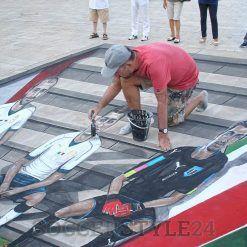 Street Art maglia Italia, piazza del Ferrarese a Bari