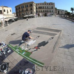 Realizzazione murales maglia Italia a Bari