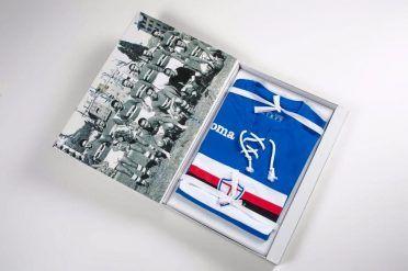 Interno confezione speciale maglia Sampdoria 70° anniversario