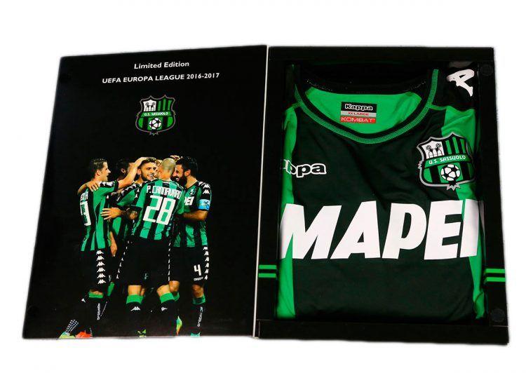 Box commemorativo maglia Sassuolo Europa League