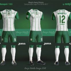 Bozzetto maglia Monopoli away bianca 2016-17
