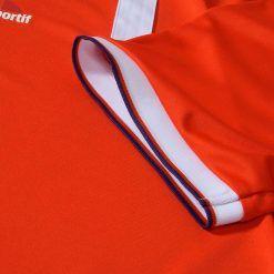 Fiorentina dettaglio manica con bordino viola-rosso