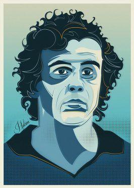 Michel Platini ritratto Neil Stevens