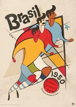 Poster Mondiali Brasile 1950