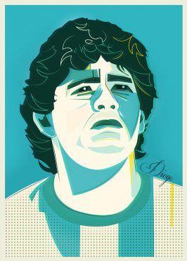 Ritratti Mondiali Diego Maradona Argentina
