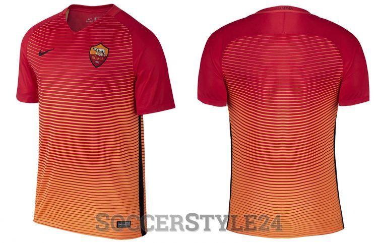 Terza maglia Roma 2016-2017 arancione-rosso