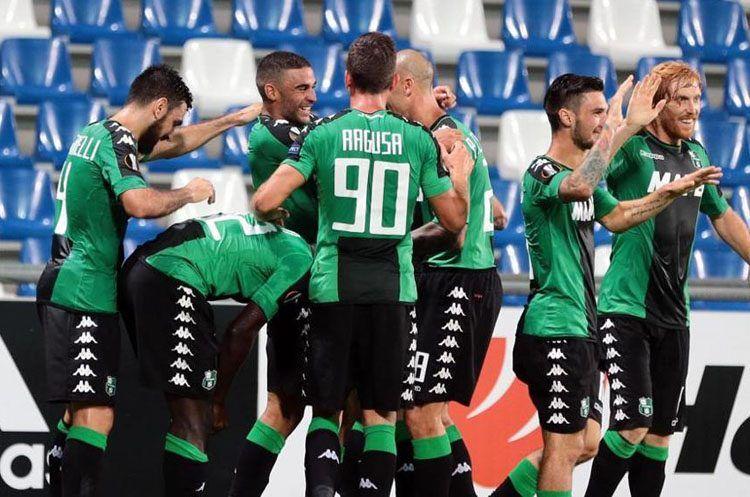 Sassuolo v Athletic Bilbao, Europa League 2016-2017, esultanza