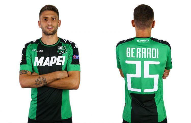 Maglia Sassuolo Europa League 2016-17, Berardi