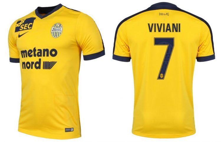 Seconda maglia Hellas Verona 2016-17 gialla