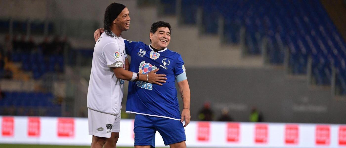 Maradona e Ronaldinho, Partita della pace 2016