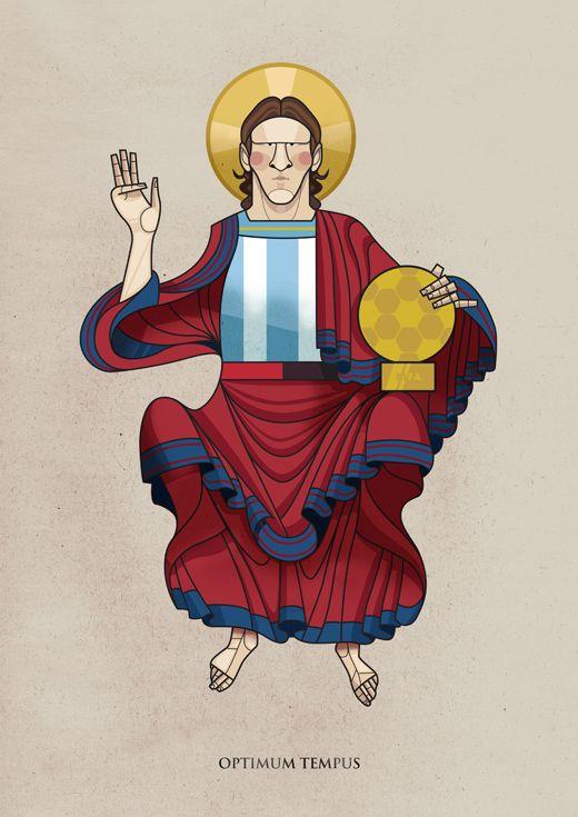 Santo Messi Argentina Barcellona