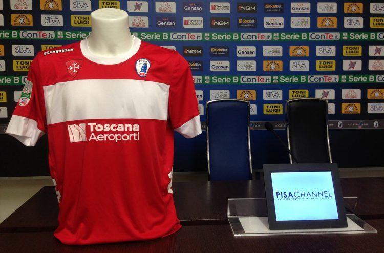 Terza maglia Pisa 2016-2017 rossa