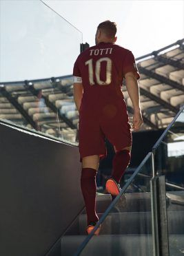 Totti kit AS Roma derby