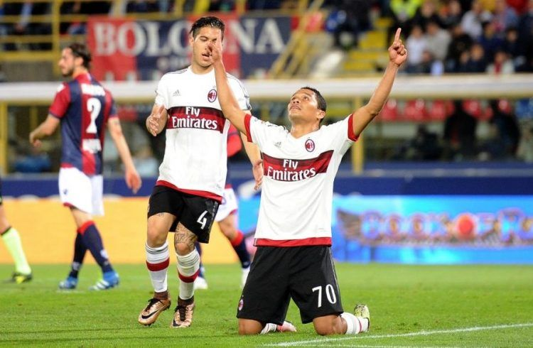 Bologna-Milan 2015-16 pantaloncini neri