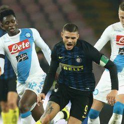 Mauro Icardi in Napoli Inter