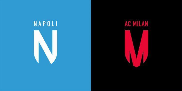 Logo stile Juve Napoli Milan