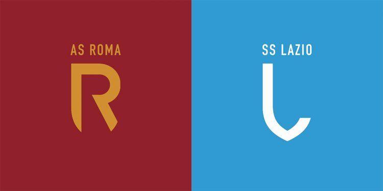 Logo AS Roma e SS Lazio stile Juventus