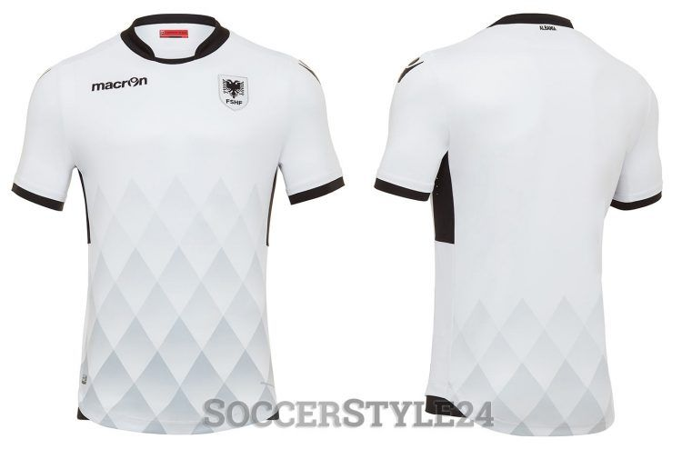 Seconda maglia Albania 2017 bianca