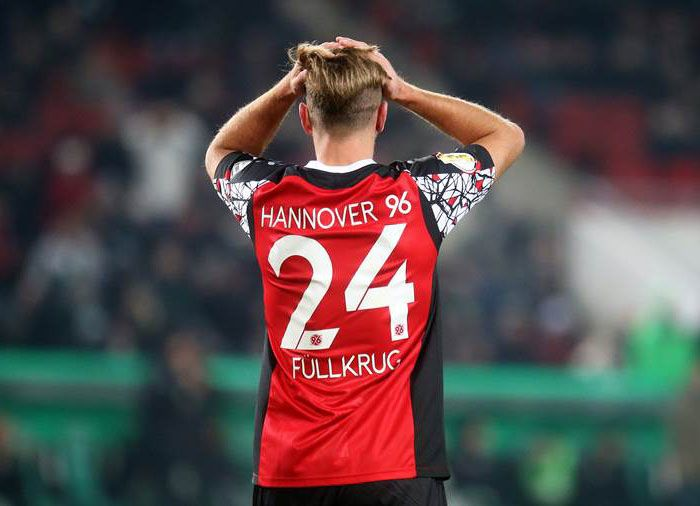 Hannover 96, Maglia Speciale Coppa di Germania 2017, Retro, Font