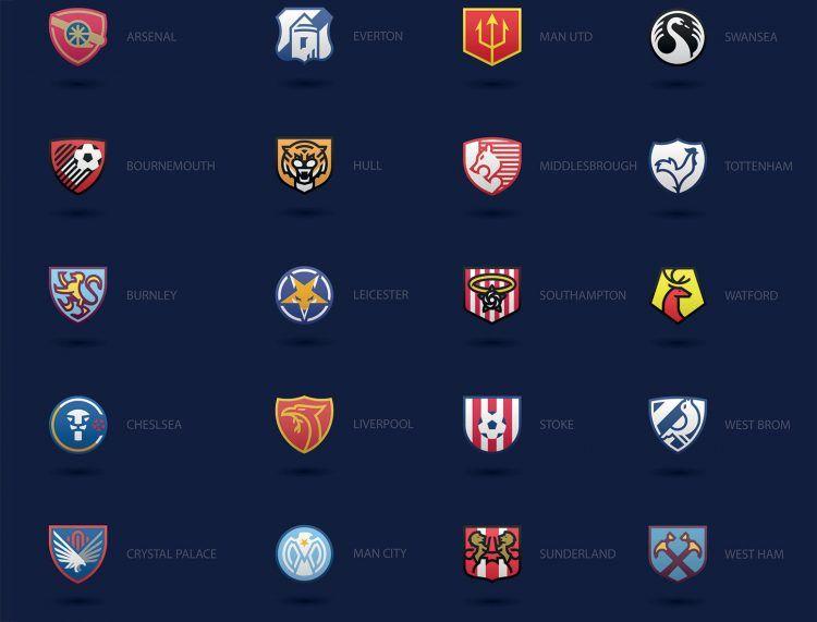 Loghi Premier League di Frase Davidson per Ballr
