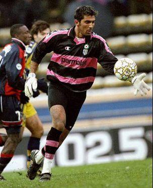 Maglia Parma Buffon 1999-2000 rosa nero